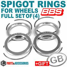 Spigot Rings / Hub Rings FULL SET for BBS wheels 24 DIFFERENT size options +GIFT