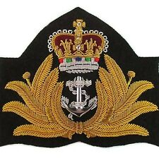 GENUINE ROYAL AUSTRALIAN NAVY OFFICER GOLD BULLION PEAK CAP HAT BADGE