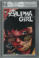 Alpha Girl #1 (NM) *3X Signed* Love, Bonjour & Shukartsi PGX 9.4 (like CGC)