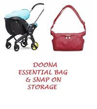 FACTORY NEW RED Doona Essentials Bag and Snap on Storage Bag INTERNATIONAL SHIP