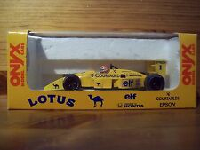 1/43 ONYX 009 1988 NELSON PIQUET LOTUS 100T COURTAULDS DECALS