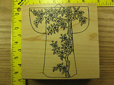 Rubber Stamp Asian Kimono by Judikins Blossoming Branch Stampinsisters #3069