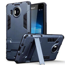 Slim Shock Resistant Armour Case Stand for Microsoft Lumia 950 XL - Dark Blue