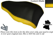 BLACK & YELLOW DESIGN 2 CUSTOM FITS DUCATI 848 1098 1198 REAR LEATHER SEAT COVER