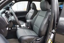 TOYOTA TACOMA 2016- BLACK/CHARCOAL S.LEATHER CUSTOM MADE FIT FRONT SEAT COVER