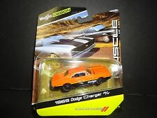 Maisto Dodge Charger RT 1969 Black and Orange 1/64