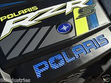 2015/16 Polaris RZR 900s 900 900xc Inlay Decals FULL SET Bright Blue Carbon