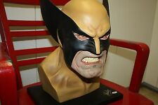 MARVEL ALEX ROSS WOLVERINE FULL HEAD BUST SIGNED AUTOGRAPH BY STAN LEE FIGURE