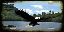 Eagle Soaring Over Water Novelty Metal License Plate Tag
