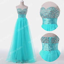 Strapless BEADED Long Cocktail Party Dresses Formal Gown Prom Ball Evening Dress
