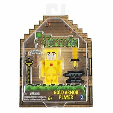 Jazwares - Terraria Action Figure - Gold Armor Player With Accessories - New