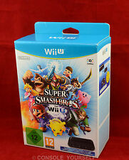 SUPER SMASH BROS FOR WII U GAMECUBE ADAPTER BUNDLE - VGC - NINTENDO WII U - PAL