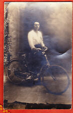 CYCLE   VELO BICYCLETTE  VELOCIPEDE  CARTE PHOTO 1900 ALCYON ?? VOIR+