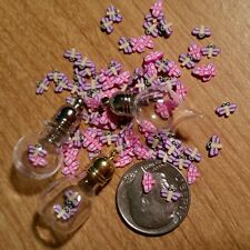20 TINY MIX DRAGONFLY Magical Fairy Dust  Make A DIY Globe Charm Pendant 3x5m