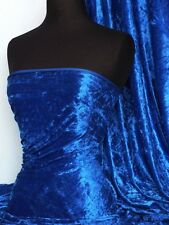 Marble Texture Velvet Lycra 4 Way Stretch Fabric- Electric Blue Q172 ELCBL