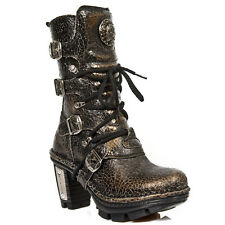 NIB US W9 / EU 40 New Rock Cracked Bronze Neotrail Punk Boots - M.NEOTR005-S22