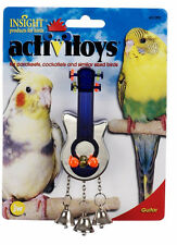 JW PET BIRD TOY GUITAR WITH BELLS PARAKEET COCKATIEL CANARY FREE SHIP TO THE USA