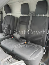 TO FIT A FORD TRANSIT CUSTOM VAN SEAT COVERS 2016 , BLK WATERPROOF MTM
