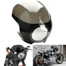 "5 3/4"" Headlight Fairing Windshield Windscreen For Retro Cafe Racer Drag Racing"