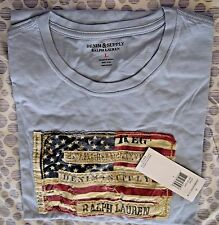 BRAND NEW DENIM & SUPPLY RALPH LAUREN FADED SKY FLAG TEE SIZE XL