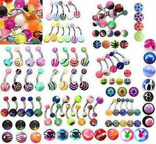 50 x Navel Belly Bars all  different, bright colours -  fantastic selection