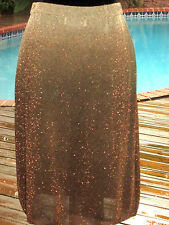 Valentino Ombre' Metallic Shimmer+Sparkle Skirt 8 M FR40 $WINTER$SALE$REDUCED$