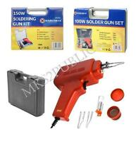 100W/150W SOLDERING GUN KIT WITH TIPS, WIRE, PASTE AND CARRY CASE