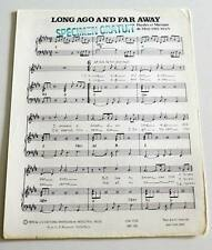 Partition sheet music MORT SHUMAN : Long Ago And Far Away * 70's PROMO