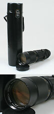 75-230MM F 4.5 YASHICA LENS W/F+R CAPS AND CASE