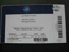 MICHAEL BUBLE  O2 LONDON  15/12/2014  TICKET