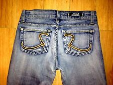Rock & Republic ROTH SRTHAWT Snakeskin Bootcut Womens Jeans Medium Wash Size 25