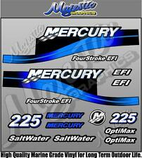 MERCURY 225hp - BLUE - EFI SALTWATER - OUTBOARD DECALS