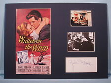 """Rock Hudson & Lauren Bacall in """"Written on The Wind"""" & signed by Robert Stack"""