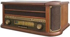 Nostalgie Retro Holz Musikanlage Kompaktanlage Radio Plattenspieler Stereoanlage