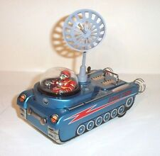 MINT 1950's BATTERY OPERATED M-18 SPACE TANK w/RADAR ANTENNA TIN LITHO TOY
