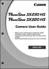 Canon Powershot SX220 HS SX230 HS Digital Camera User Instruction Guide  Manual