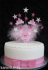 PRINCESS CROWN BIRTHDAY CAKE TOPPER SUITABLE FOR A 20cm CAKE