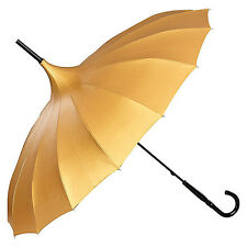 Von Lilienfeld Cecile Pagoda Umbrella - Metallic Gold