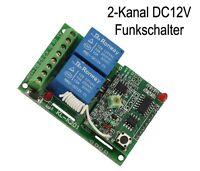 12V 2 Kanal Universal Funk Sender Empfänger Schalter Funkschalte + Fernbedienung