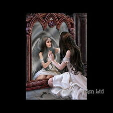*MAGICAL MIRROR* Anne Stokes Gothic Fantasy FSC Certified Greeting Card (AN37)