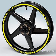 Adesivi cerchi moto Suzuki GSXR 750 strisce ruote Suzuki GSX R 750 gsx-r 750