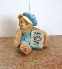 Cherished Teddies Cub E. Bear With Newspaper Symbol Of Membership #CT0001 (CT14)