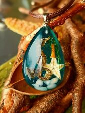 """Under The Sea"" Terrarium Necklace with Star Fish Pendant"