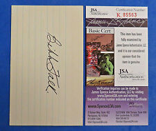 BIBB FALK SIGNED 3x5 INDEX CARD - JSA K85563 - SHOELESS JOE's REPLACEMENT