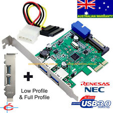 USB 3.0 2 back + 20-pin Internal Connecter PCI-E Card, Full & Low Profile