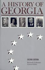 A History of Georgia Second Edition 1991 Paperback Kenneth Coleman