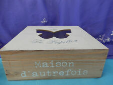 Shabby Chic Wooden Butterfly Box