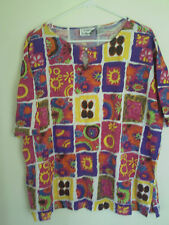 Women's Laura Katherine Plus Sz L/S Top  Shirt/Blouse  Sz 22W/42 VIbrant colors!