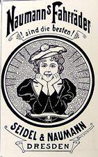 Seidel & Naumann Fahrräder Dresden Reklame Inserat Werbung Anzeige Druck 1898