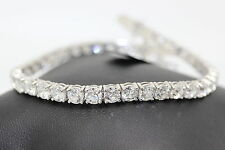 4ct  Claw Set Round Diamond Tennis Bracelet Made in White Gold, Uk Hallmarked